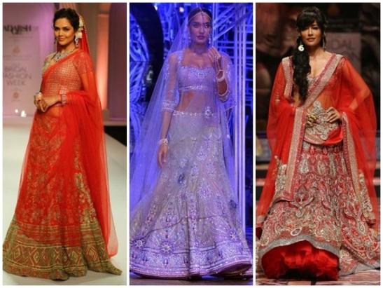 Indian bridal fashion week 2013, Indian wedding fashion, Bollywood actresses in IBFW 2013