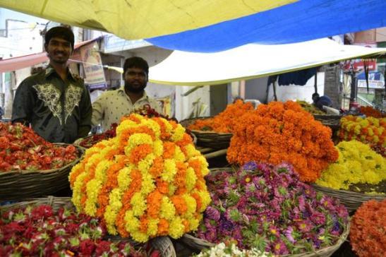 hyderabad flower market details, cheap airfare to hyderabad