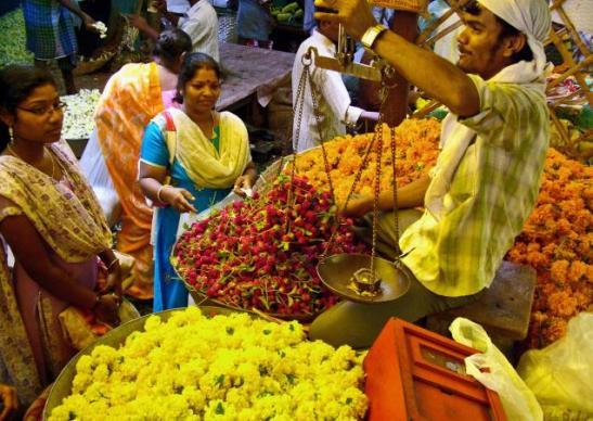 madurai flower market, madurai temple  town