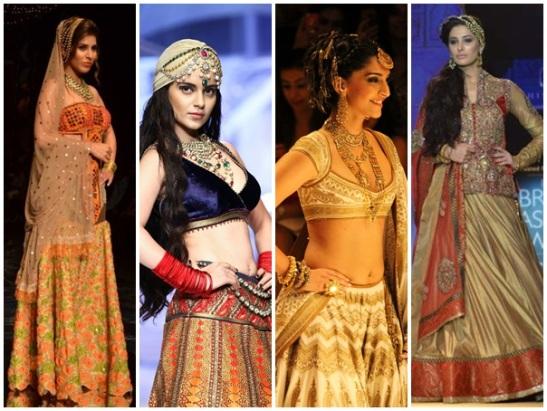 Indianbridal fashion week 2013, Indian wedding fashion, Bollywood acrtresses in IBFW 2013