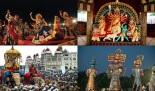 different ways of dussehra, best places for navratri celebration, durga puja in kolkata, ramleela in delhi