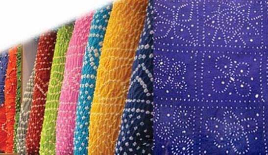 Bandhani work of gujarat, bandhej fashion, handicrafts of gujarat
