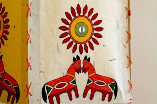 Hand painting designs in Gujarat, gujarati handicrafts and textiles