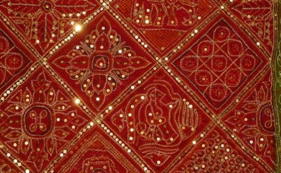 zari work designs, zari work in gujarat, handicraft textiles of gujarat, Indian art and crafts