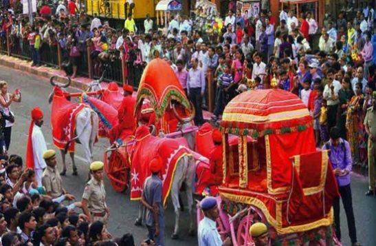 Gangaur festival in Jaipur, Gangaur festival procession