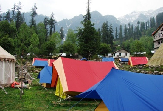 camping in kullu manali, best campsites in himachal, himalayas tours