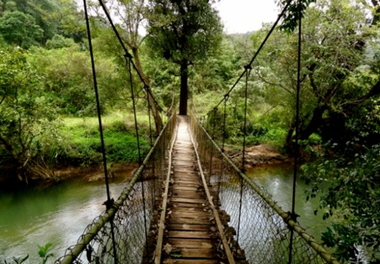 hanging bridges in Karnataka, travel to India, scary hanging bridges in India