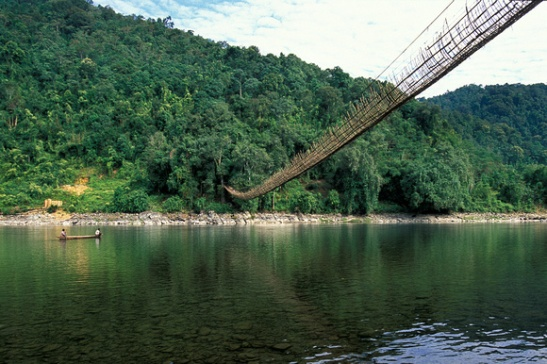 hanging bridges in arunachal pradesh, India travel adventure